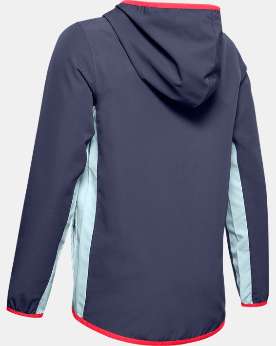 Boys' UA Woven Track Jacket, Blue, pdpMainDesktop image number 1