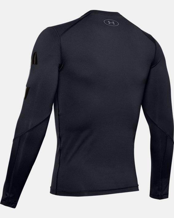Men's HeatGear® Armour Long Sleeve, Black, pdpMainDesktop image number 5