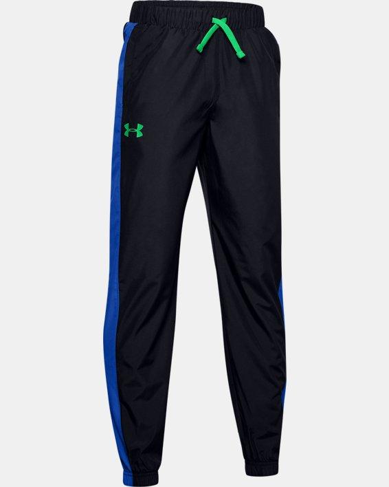 Boys' UA Mesh Lined Pants, Black, pdpMainDesktop image number 0