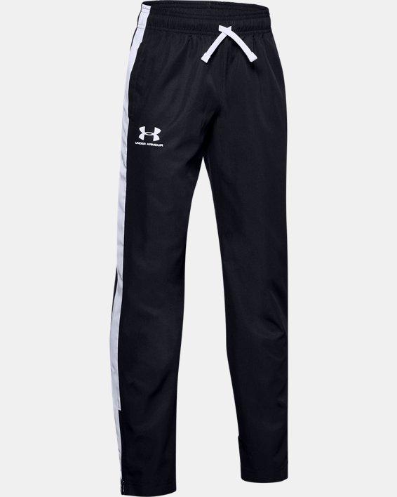 Boys' UA Woven Track Pants, Black, pdpMainDesktop image number 0