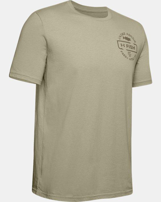 Men's UA Freshwater Division T-Shirt, Brown, pdpMainDesktop image number 3