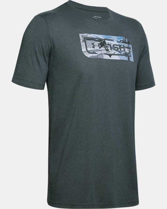 Men's UA Inline Camo Fill T-Shirt, Gray, pdpMainDesktop image number 4