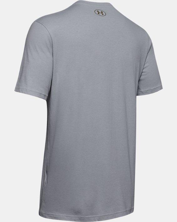 Men's UA Inline Camo Fill T-Shirt, Gray, pdpMainDesktop image number 5