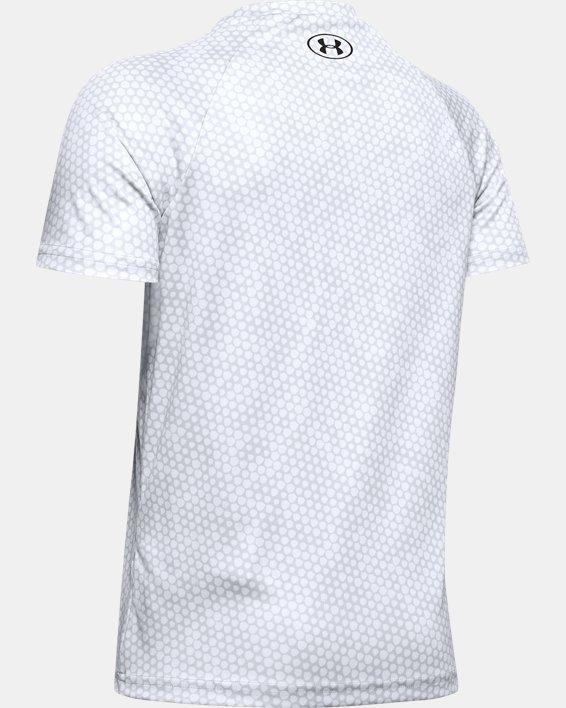 Boys' UA Tech™ Big Logo Printed Short Sleeve, Gray, pdpMainDesktop image number 1