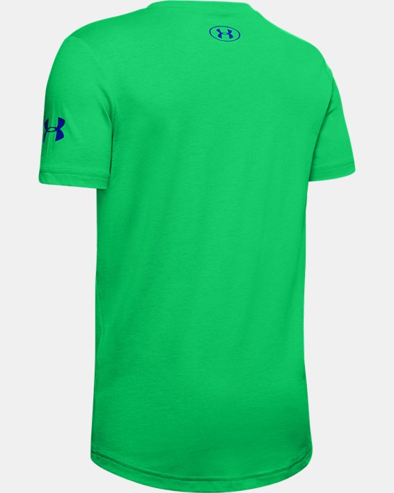 Boys' UA Tech™ Protect This House Short Sleeve, Green, pdpMainDesktop image number 1