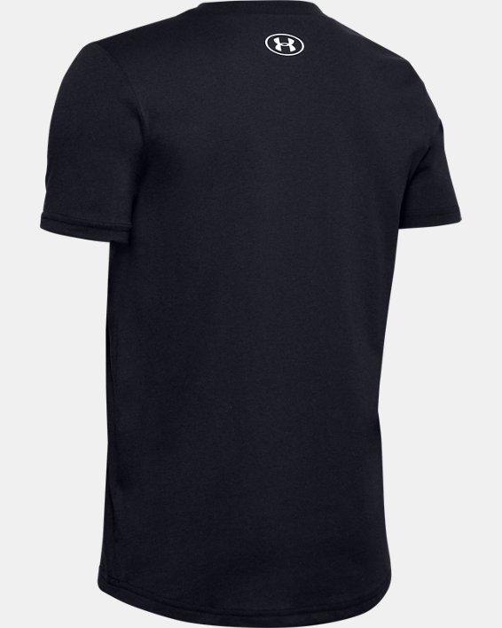 Boys' UA Sportstyle Left Chest Short Sleeve, Black, pdpMainDesktop image number 1