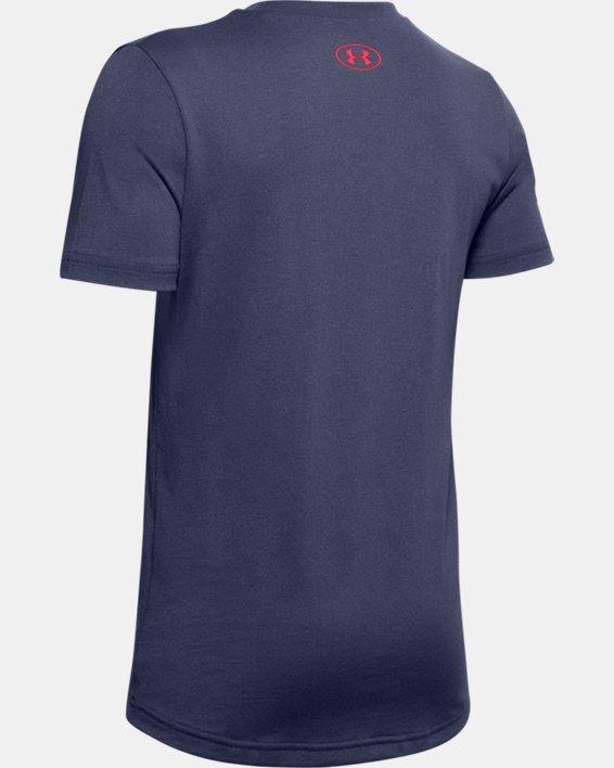 Boys' UA Performance Originators Short Sleeve, Blue, pdpMainDesktop image number 1