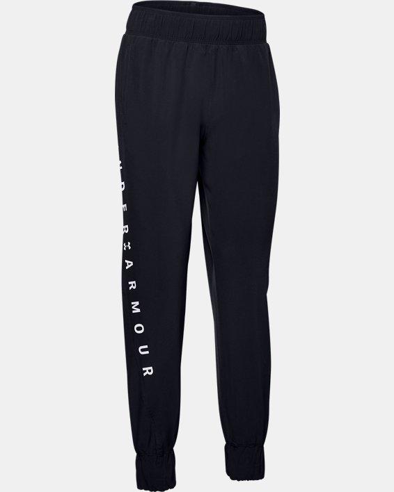 Women's UA Woven Branded Pants, Black, pdpMainDesktop image number 4