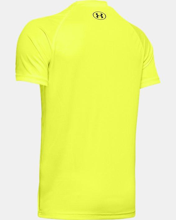 Boys' UA Tech™ Burger Emoji Short Sleeve, Yellow, pdpMainDesktop image number 1