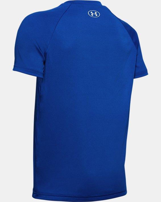 Boys' UA Tech™ Cookie Emoji Short Sleeve, Blue, pdpMainDesktop image number 1
