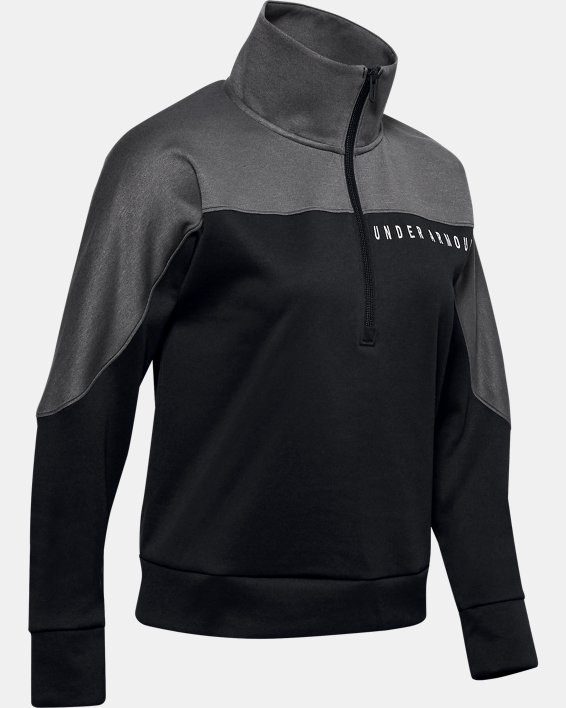 Women's UA RECOVER™ Knit ½ Zip, Black, pdpMainDesktop image number 3