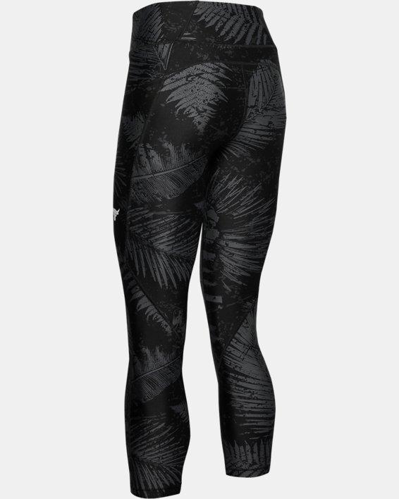 Women's Project Rock HeatGear® Armour Printed Ankle Crop, Black, pdpMainDesktop image number 4