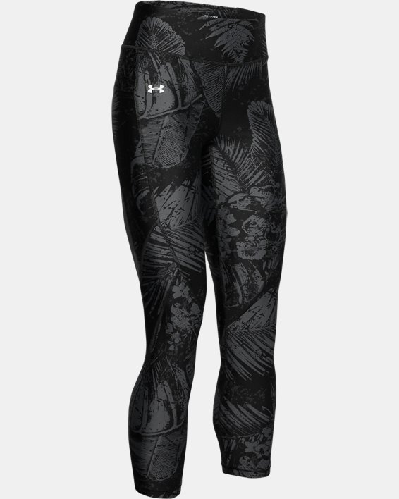 Women's Project Rock HeatGear® Armour Printed Ankle Crop, Black, pdpMainDesktop image number 3