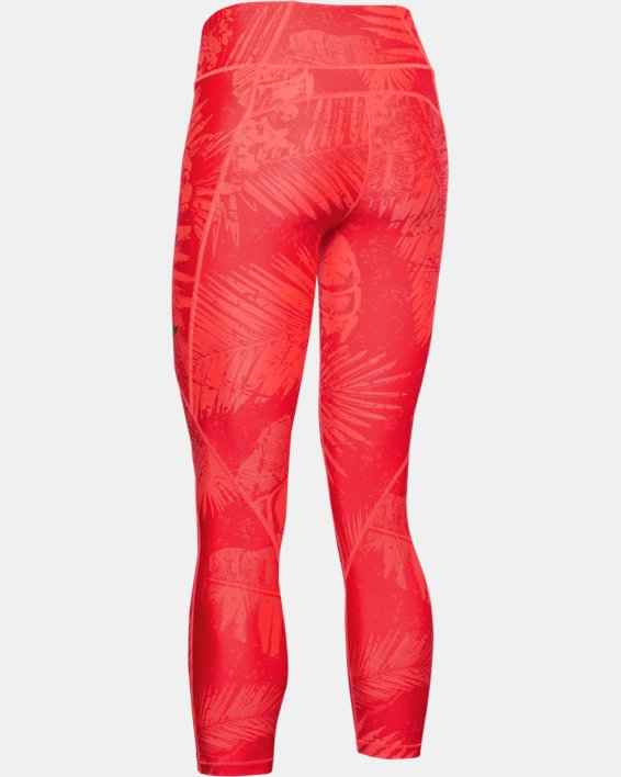 Women's Project Rock HeatGear® Armour Printed Ankle Crop, Red, pdpMainDesktop image number 4