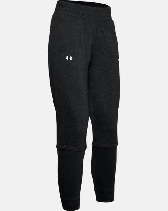 Women's Project Rock Terry Joggers, Black, pdpMainDesktop image number 4