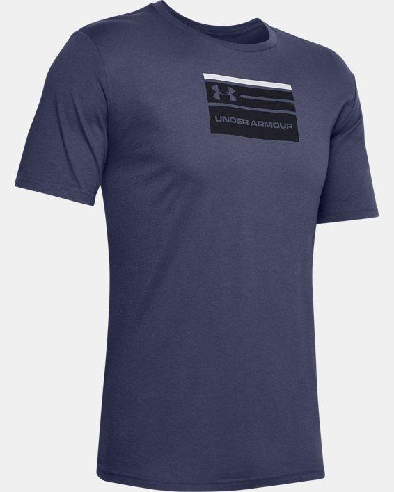 Men's UA Verbiage Graphic Short Sleeve, Blue, pdpMainDesktop image number 4