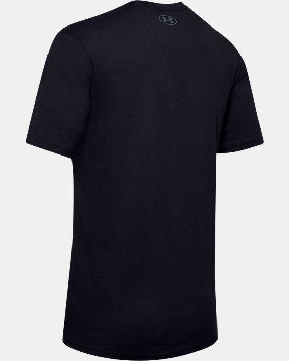 Men's UA Verbiage Graphic Short Sleeve, Black, pdpMainDesktop image number 5