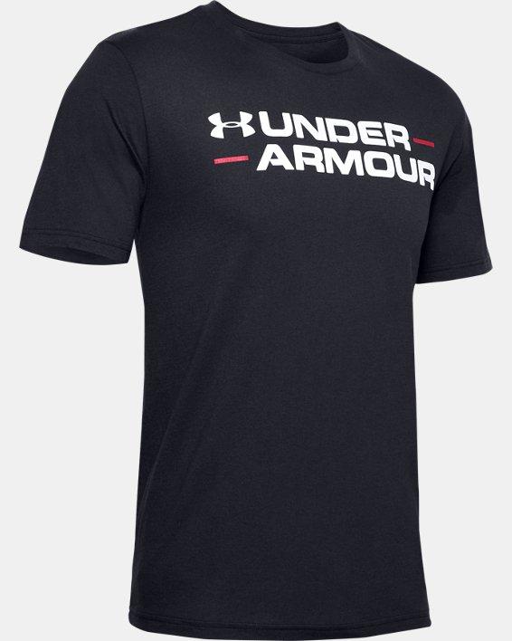Men's UA Branded Wordmark Graphic Short Sleeve, Black, pdpMainDesktop image number 4