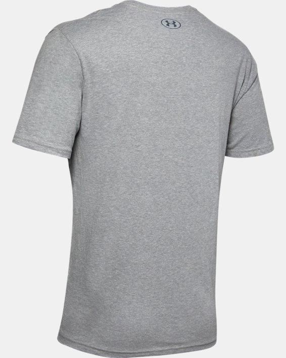 Men's UA Branded Wordmark Graphic Short Sleeve, Gray, pdpMainDesktop image number 5