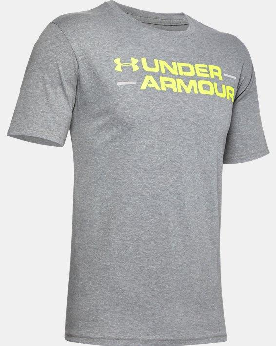 Men's UA Branded Wordmark Graphic Short Sleeve, Gray, pdpMainDesktop image number 4