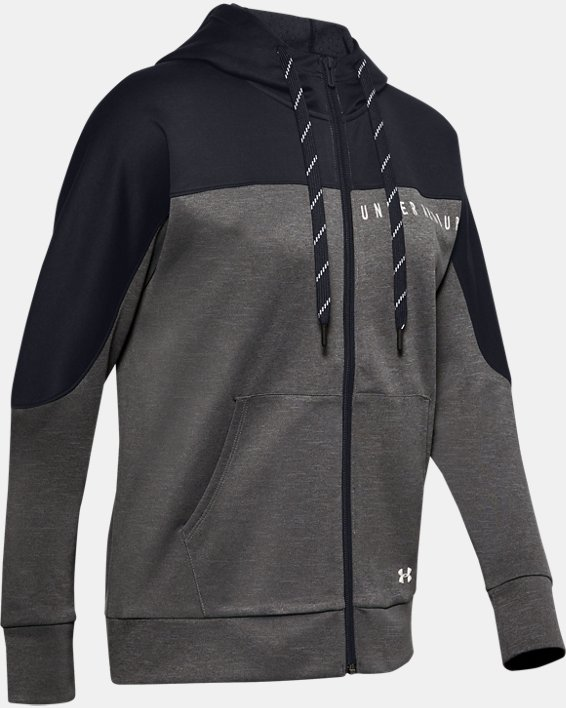 Women's UA RECOVER™ Knit Full Zip, Gray, pdpMainDesktop image number 3