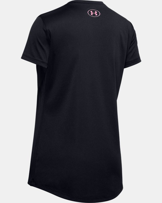 Girls' UA Big Logo Short Sleeve T-Shirt, Black, pdpMainDesktop image number 1