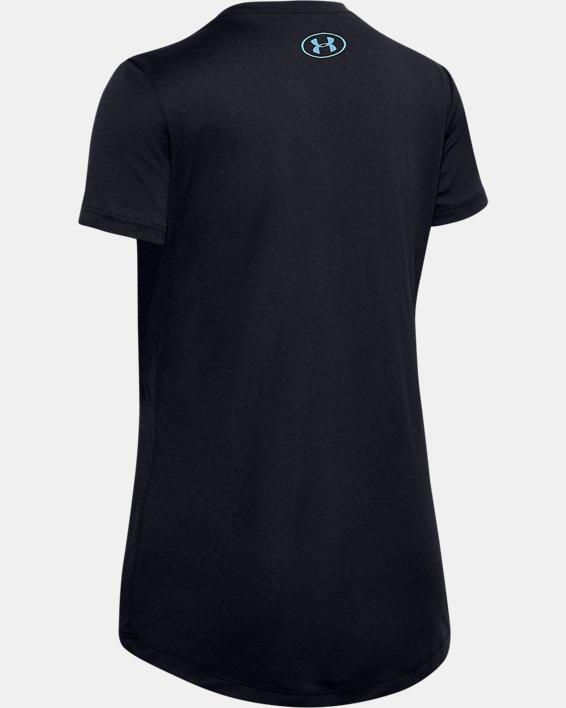 Girls' UA Softball Verbiage Graphic T-Shirt, Black, pdpMainDesktop image number 1