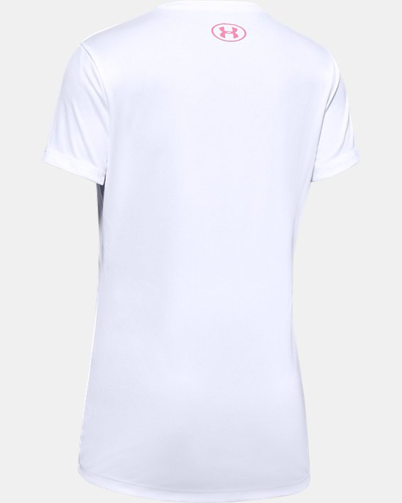 Girls' UA Soccer Verbiage Graphic T-Shirt, White, pdpMainDesktop image number 1