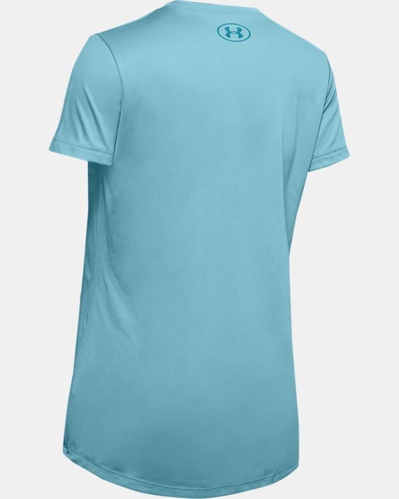 Girls' UA Basketball Verbiage Graphic T-Shirt, Blue, pdpMainDesktop image number 1