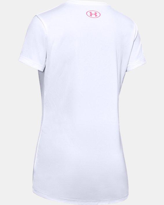 Girls' UA Gymnastics Graphic T-Shirt, White, pdpMainDesktop image number 1