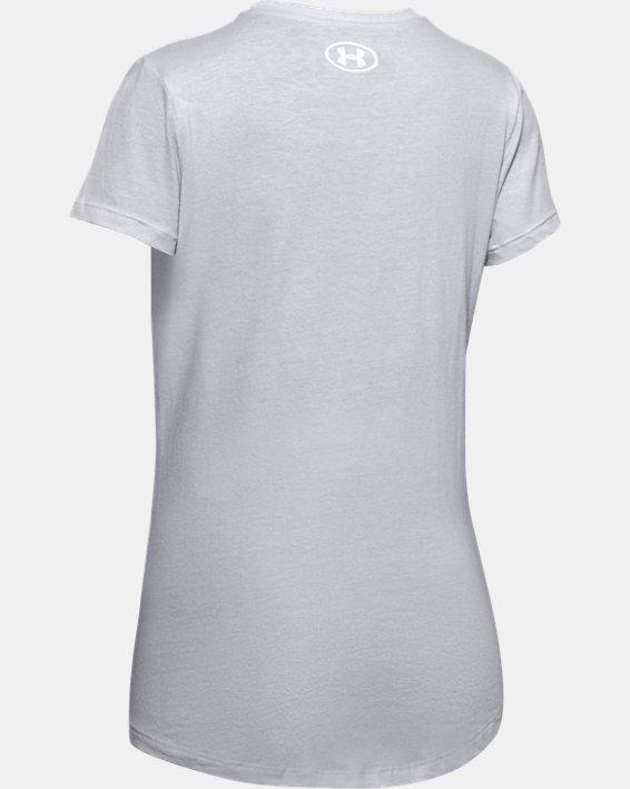 Girls' UA Wordmark Graphic T-Shirt, Gray, pdpMainDesktop image number 1