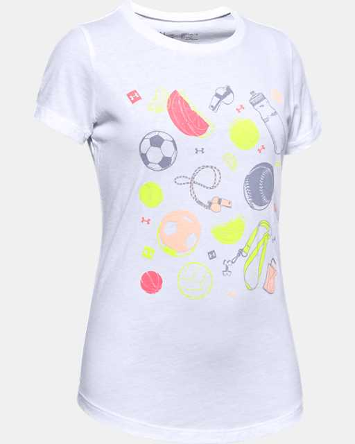 Girls' UA Sport Jumble Graphic T-Shirt