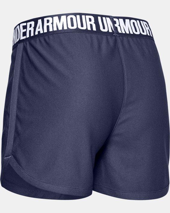 Girls' UA UV Activated Shorts, Blue, pdpMainDesktop image number 1