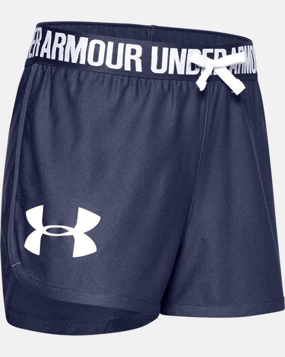Girls' UA UV Activated Shorts, Blue, pdpMainDesktop image number 0