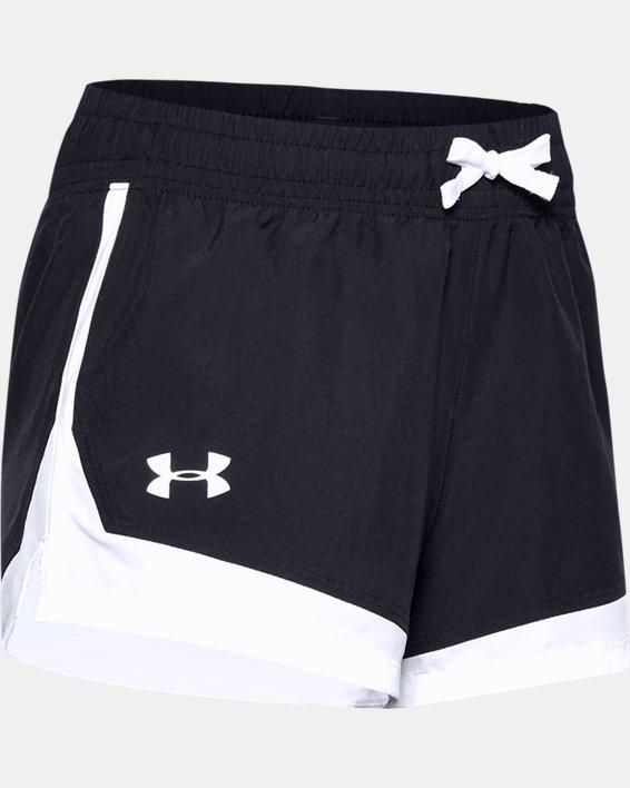 Girls' UA Sprint Shorts, Black, pdpMainDesktop image number 0