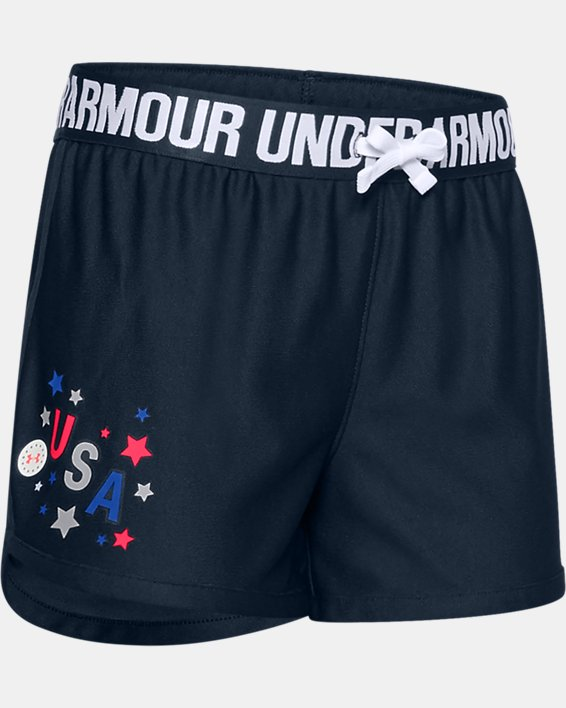 Girls' UA Play Up Americana Shorts, Navy, pdpMainDesktop image number 0