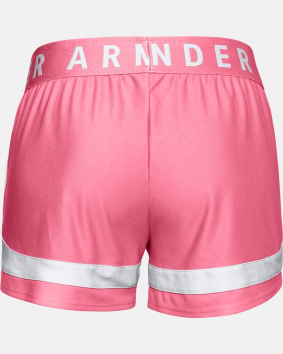 Women's UA Play Up 3.0 Shorts, Pink, pdpMainDesktop image number 5