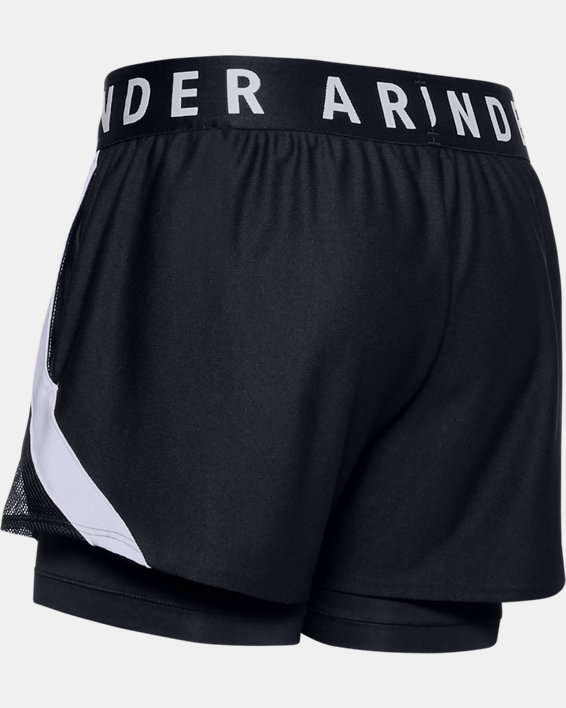 Women's UA Play Up 2-in-1 Shorts, Black, pdpMainDesktop image number 4