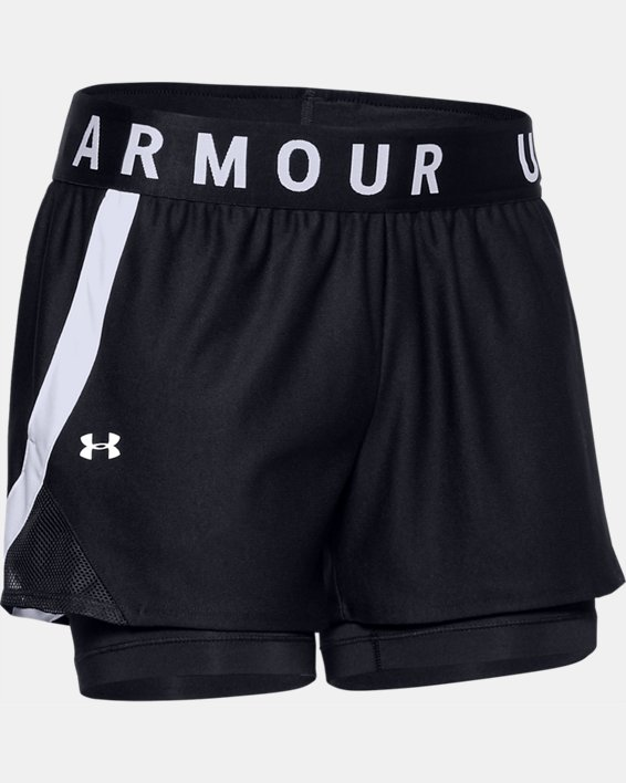 Women's UA Play Up 2-in-1 Shorts, Black, pdpMainDesktop image number 3