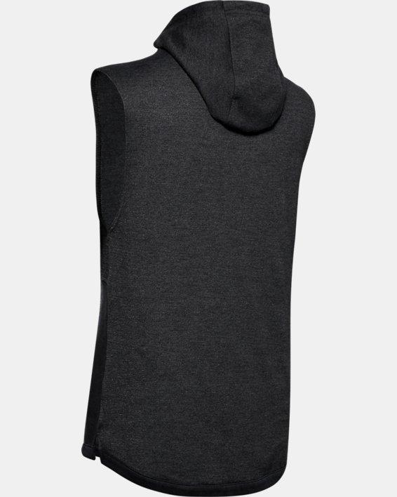 Men's UA Double Knit Sleeveless Hoodie, Black, pdpMainDesktop image number 5