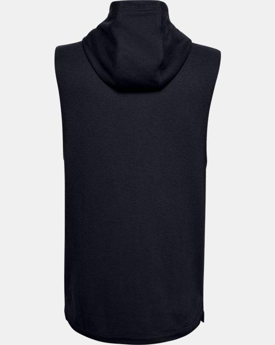 Men's UA Double Knit Sleeveless Hoodie, Black, pdpMainDesktop image number 4