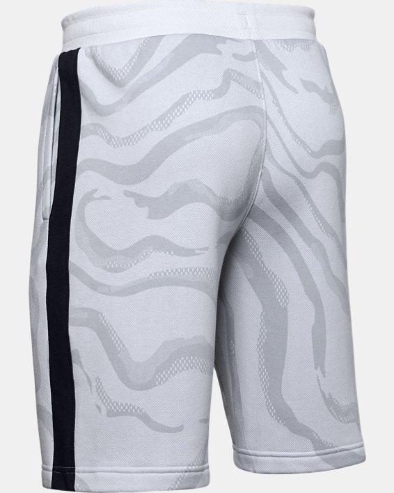 Short UA Speckled Fleece Printed pour homme, Gray, pdpMainDesktop image number 5