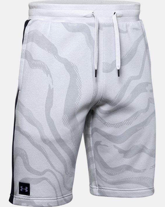 Short UA Speckled Fleece Printed pour homme, Gray, pdpMainDesktop image number 4