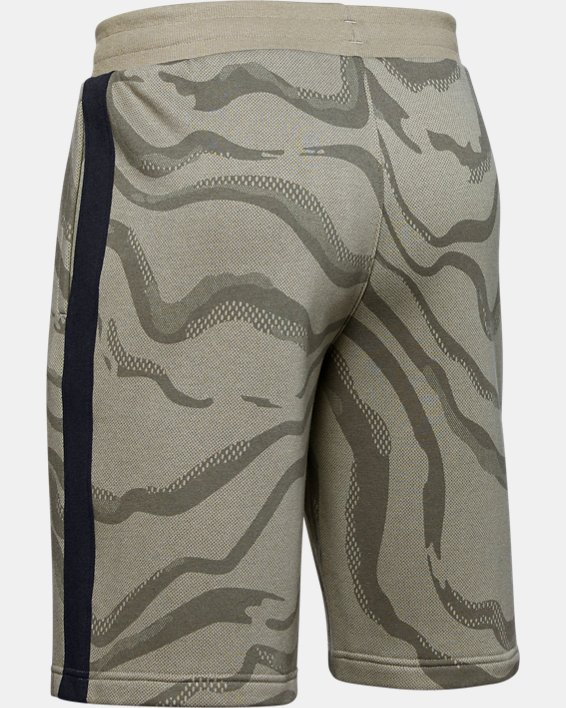 Men's UA Speckled Fleece Printed Shorts, Green, pdpMainDesktop image number 5