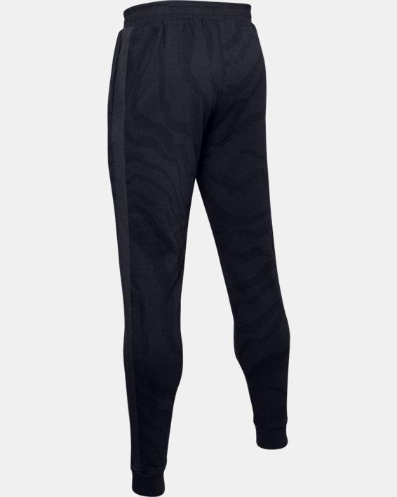 Men's UA Rival Fleece Printed Pants, Black, pdpMainDesktop image number 5