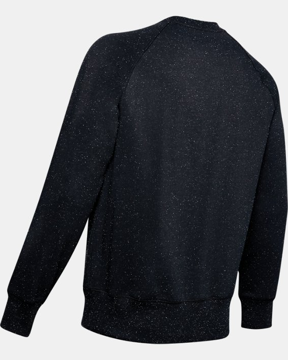 Men's UA Speckled Fleece Crew, Black, pdpMainDesktop image number 4