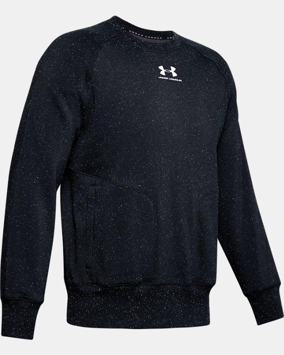 Men's UA Speckled Fleece Crew, Black, pdpMainDesktop image number 3