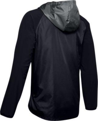 Under Armour Stretch-Woven Hooded Felpa Verde Uomo