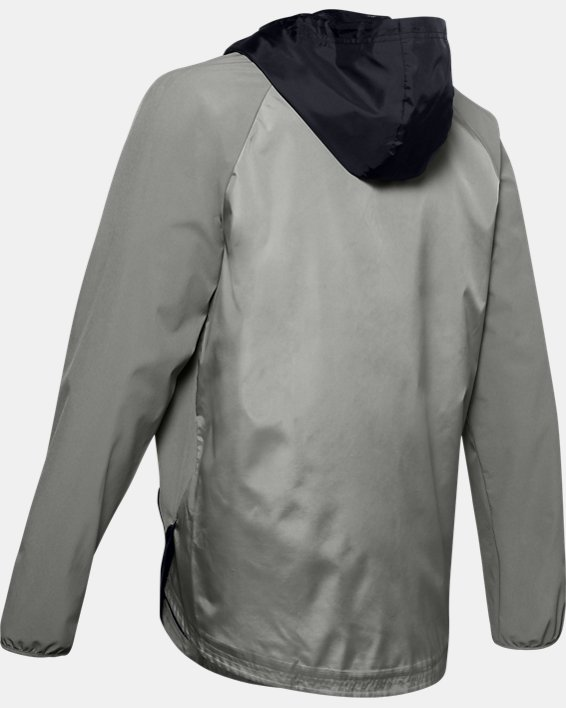 Men's UA Stretch Woven Full Zip Jacket, Green, pdpMainDesktop image number 5