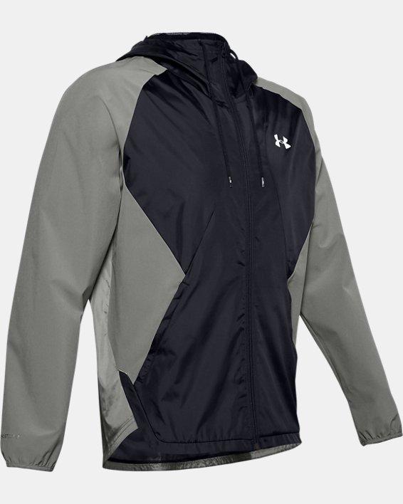 Men's UA Stretch Woven Full Zip Jacket, Green, pdpMainDesktop image number 4